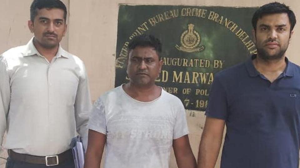 Hemchand (centre) was convicted in the 1999 murder of fashion designer Kunjum Budhiraja. He was released in 2016.