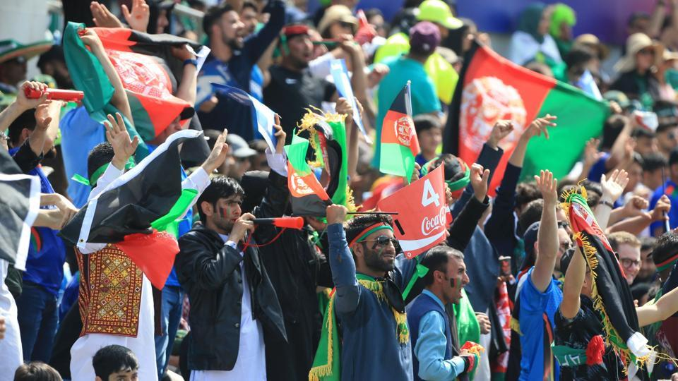 File photo of Afghanistan supporters cheering during a match.