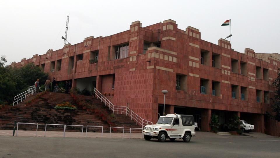 The Jawaharlal Nehru University (JNU) administration on Friday issued show cause notice to JNU students' union (JNUSU) president N Sai Balaji for pasting posters on walls at the campus.