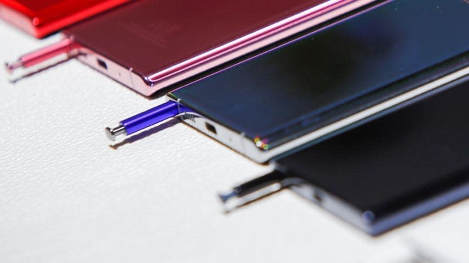 Close up of the Samsung Galaxy Note 10 during the launch event of the Galaxy Note 10 at the Barclays Center in Brooklyn, New York, U.S., August 7, 2019.