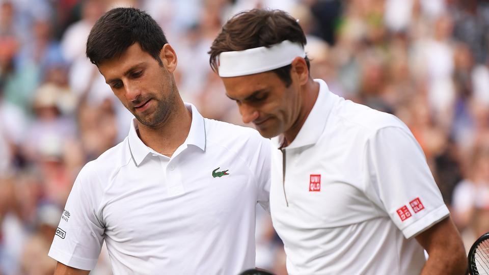 File image of Novak Djokovic and Roger Federer.