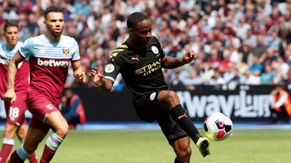 Manchester City forward Raheem Sterling scored a hat-trick.