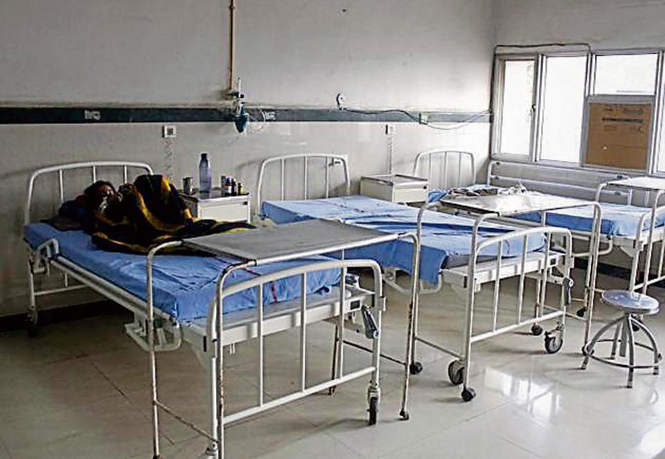 The number of in-patient hospital beds per 10,000 people is one of the parameters to be assessed.