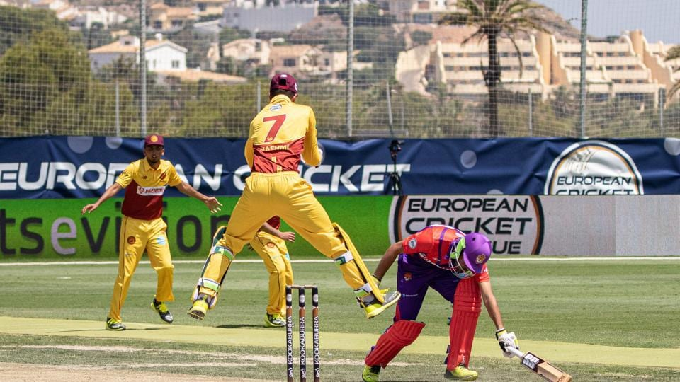 File image of Romanian players taking part in the European Cricket League.
