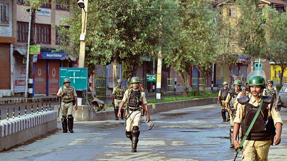 Curfew-like restrictions were imposed across Kashmir on Sunday night, hours before Union home minister Amit Shah first announced the momentous decision on J&K in the Rajya Sabha.