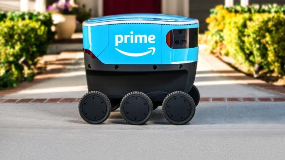 Meet, Amazon's delivery robos.