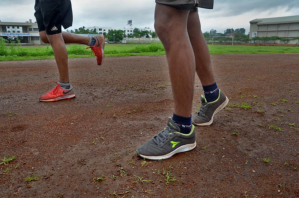Athletes practice for junior athletic tournament at government sports complex in Sangli. MAA spokesperson said authorities should consider cities beyond Pune, Mumbai, Nagpur and Nashik, like Chandrapur, Gadchiroli and Beed where athletes don't even have a normal mud track and still they participate in tournaments, and win also.