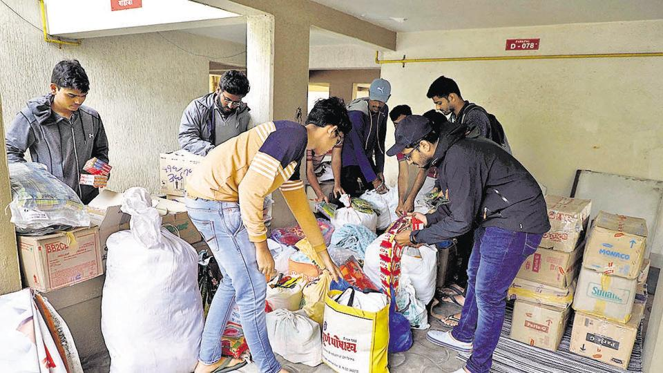 Various citizen groups have set up relief collection centres at Padmavatinagar, Sambhajinagar and Dhankavdi on Saturday. The relief materials will be later sent to flood-affected areas in Kolhapur, Sangli and other areas of western Maharashtra.