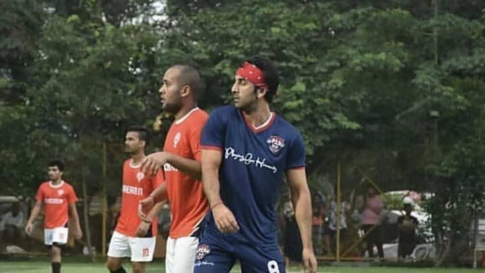 Ranbir Kapoor during the match