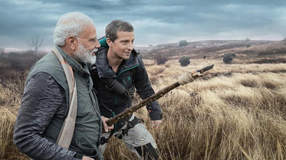Prime Minister Narendra Modi features on Man vs Wild. (Photo Courtesy: Discovery channel)