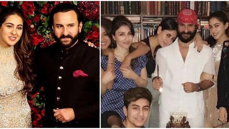Sara Ali Khan with father Saif Ali Khan, Kareena Kapoor and many other members of her family.