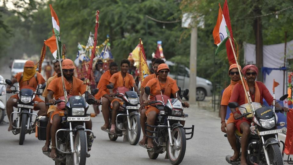 The Kanwarias blocked a 2-km stretch of the road from Eidgah demanding arrest of people involved in stone pelting. Image used for representational purpose only.