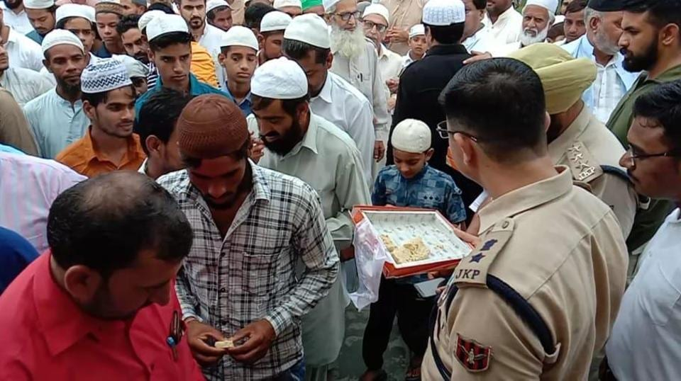 People offered namaz in the morning at Mohalla mosques in various parts of Srinagar on Eid on Monday.