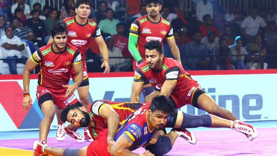 UPYoddha defeated Bengaluru Bulls in the PKL 2019.