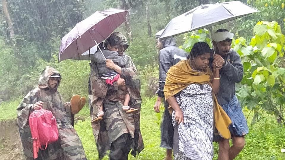 Army personnel continue rescue operations in flood hit Wayanad on Saturday. In the worst-hit Puthumala in Wayanad, which was struck by a massive landslide on Thursday, eight people were still missing and search operations are on, said chief minister Pinarayi Vijayan.  (ANI)