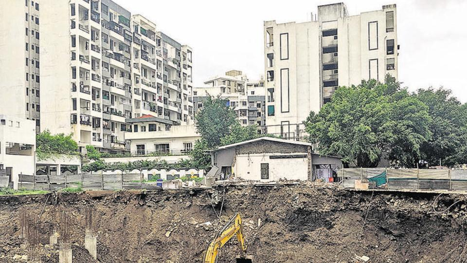PCMC had planned to demolition the building on Friday, it had asked the nearby shops to shut till the demolition.