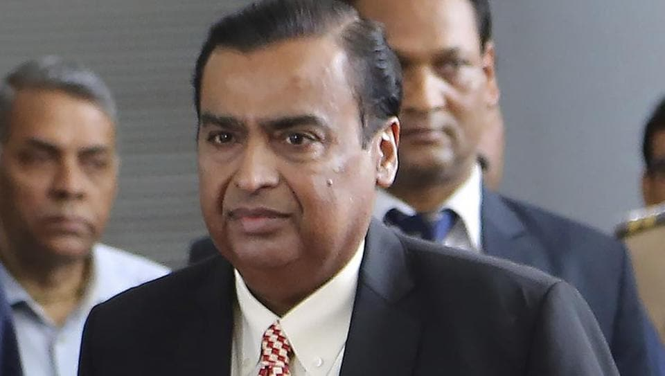 Chairman of Reliance Industries Limited Mukesh Ambani at 42nd Annual General Meeting (Post-IPO) of Reliance Industries Limited in Mumbai on Monday.