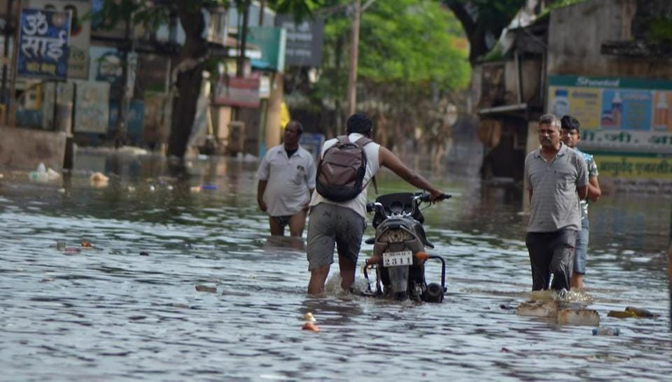 View after flood water recede in Sangli, India, on Monday, August 12, 2019.