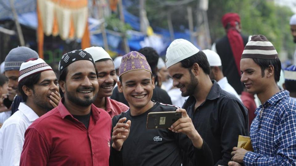 Gautam Budh Nagar celebrated Eid on Monday peacefully amid heavy deployment of police.