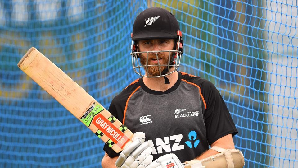 New Zealand cricket captain Kane Williamson looks on during a practice session