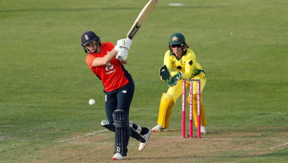 File image of Katherine Brunt of England in action