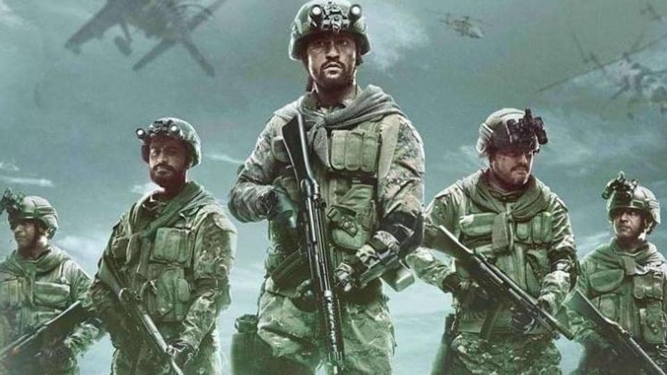 Vicky Kaushal and Mohit Raina in a poster of Uri:The  Surgical Strike.