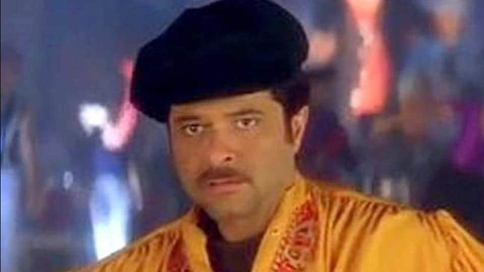Anil Kapoor in a still from the song Ramta Jogi in Taal.