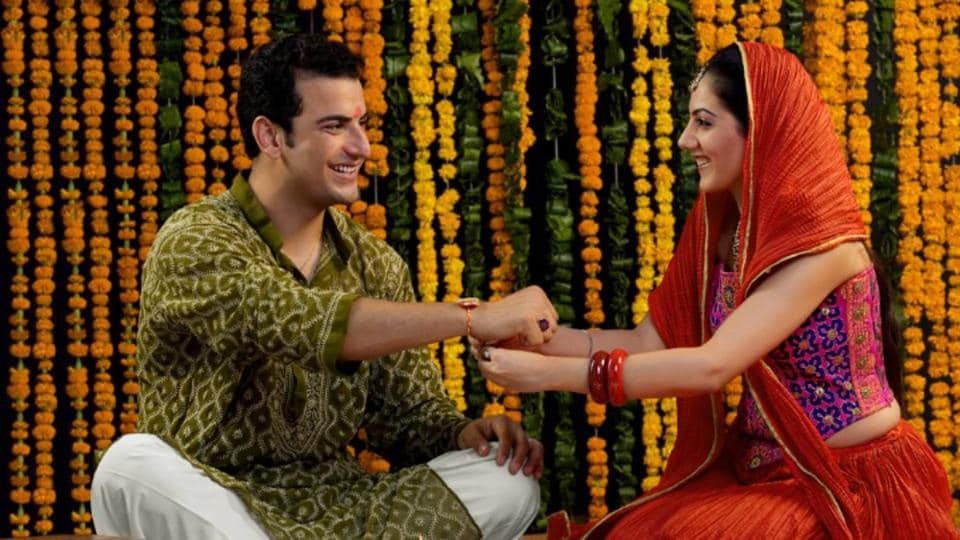 On Raksha Bandhan, sisters tie rakhis around the wrist of the brother, signifying their affection towards him, and apply tilak on their forehead.