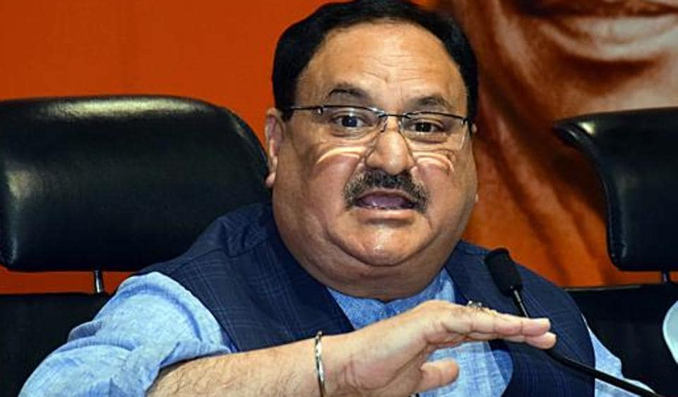 BJP Working President JP Nadda .