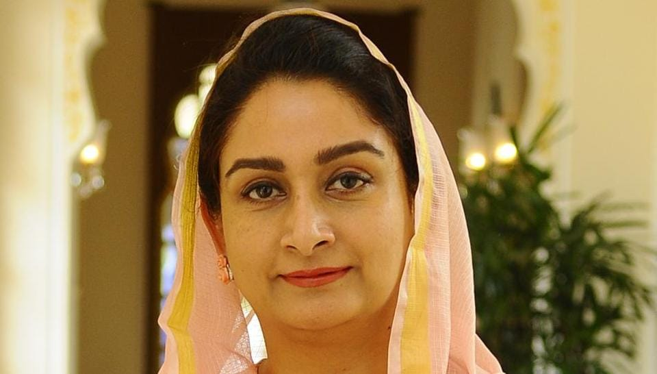 Union Minister Harsimrat Kaur Badal on Wednesday chided Pakistan minister Fawad Chaudhary. Photo by Anil Dayal/Hindustan Times
