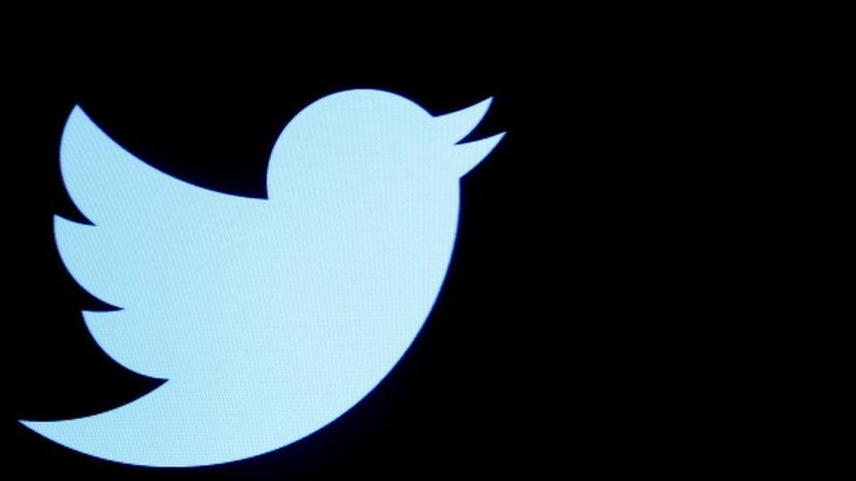 FILE PHOTO - The Twitter logo is displayed on a screen on the floor of the New York Stock Exchange (NYSE) in New York City, U.S., September 28, 2016. REUTERS/Brendan McDermid/File Photo