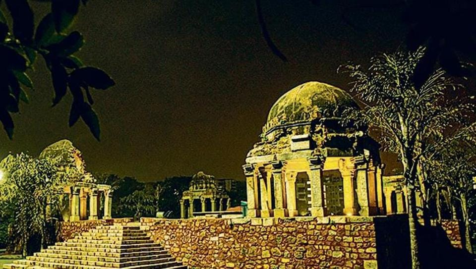 Darya Khan tomb — a Lodi-era monument situated in East Kidwai Nagar — has been illuminated by NBCC as part of the redevelopment project of the area.