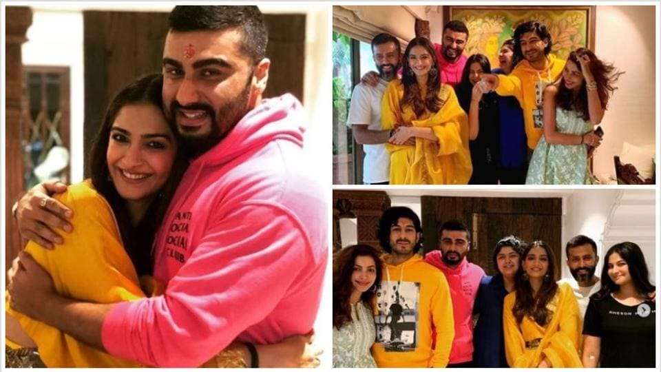 Sonam Kapoor with her cousin Arjun Kapoor on Raksha Bandhan.