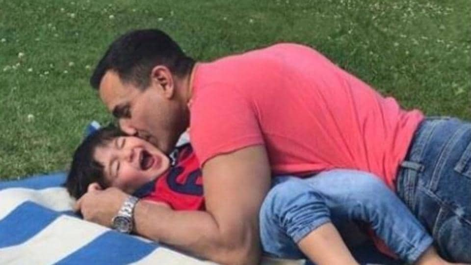 Saif Ali Khan can also not get over his son's cuteness.