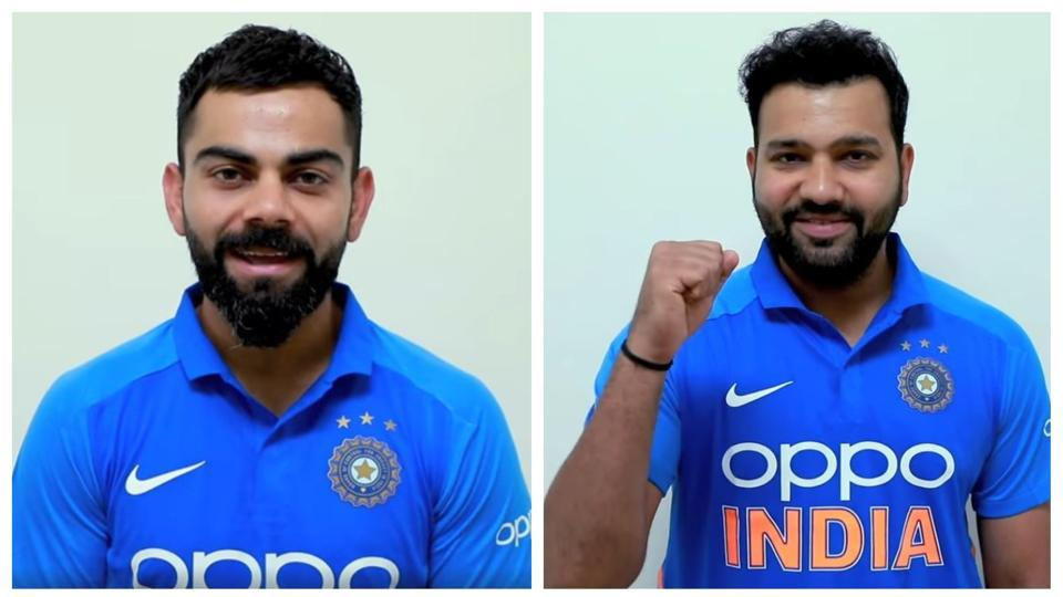 Indian cricket team members including captain Virat Kohli and vice captain Rohit Sharma passed on their Independence wishes from West Indies