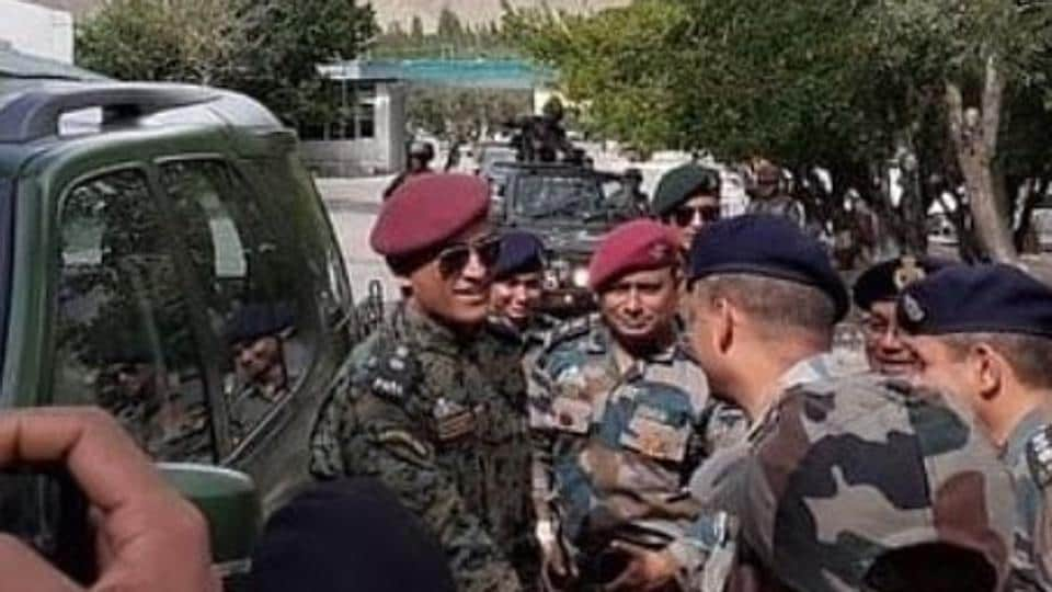 MS Dhoni Ladakh to celebrate 73rd Independence Day