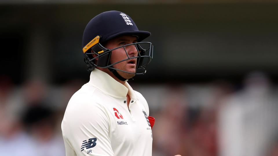 Jason Roy walks off after getting dismissed at Lord's.