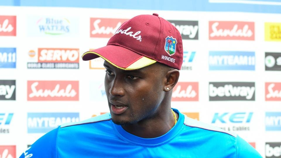 West Indies captain Jason Holder reacts after losing the ODI series to India