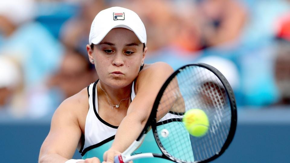 Ashleigh Barty in action at the Cincinnati Masters
