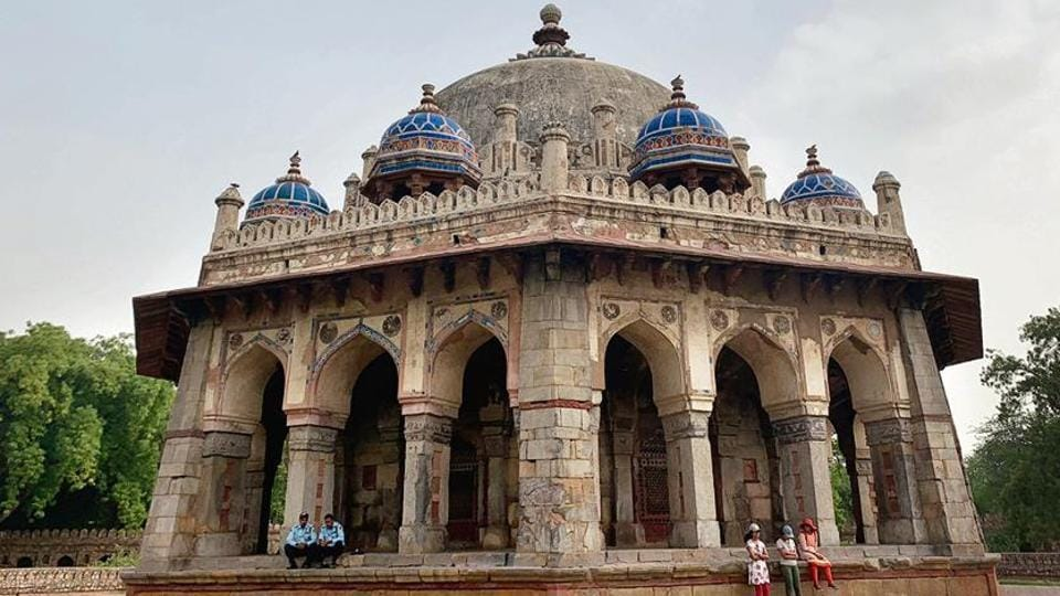 Isa Khan's tomb is one of the many miscellaneous monuments within the Humayun Tomb complex in New Delhi.