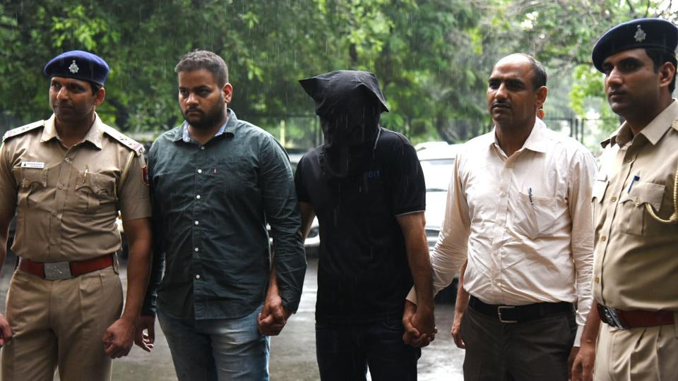 The accused in the custody of Chandigarh police on Friday.