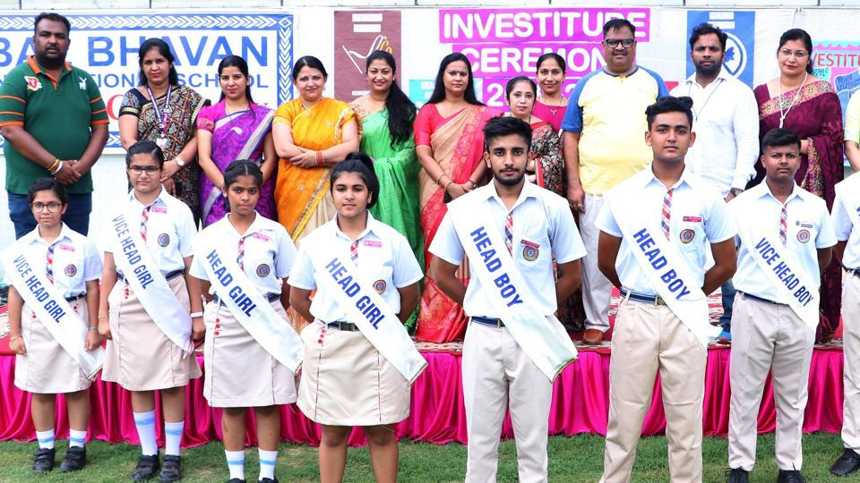 The student leaders received their titles from vice principal Jaspreet Kaur and sports director Sandeep Gupta