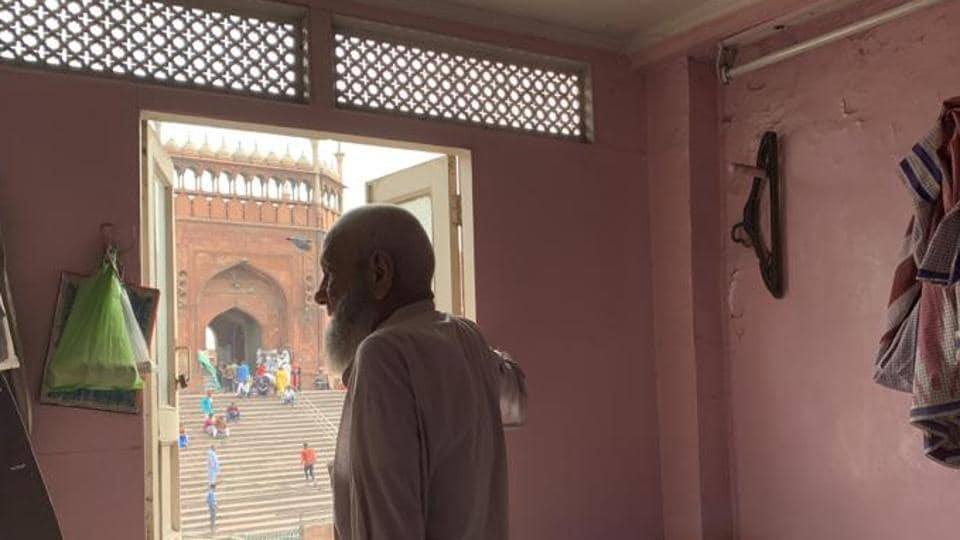 Ameer Dehlavi's room in the Walled City looks straight out onto the iconic Jama Masjid mosque.