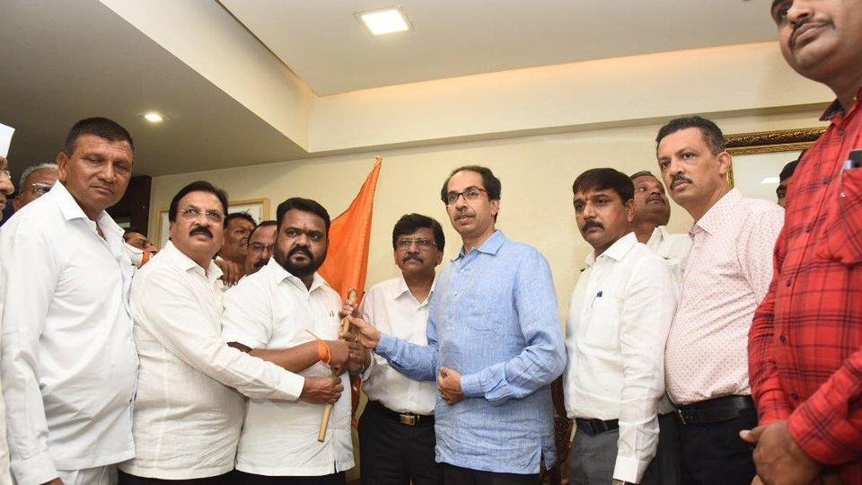 NCP's Dhanraj Mahale joined the Shiv Sena on Friday in the presence of Uddhav Thackeray.