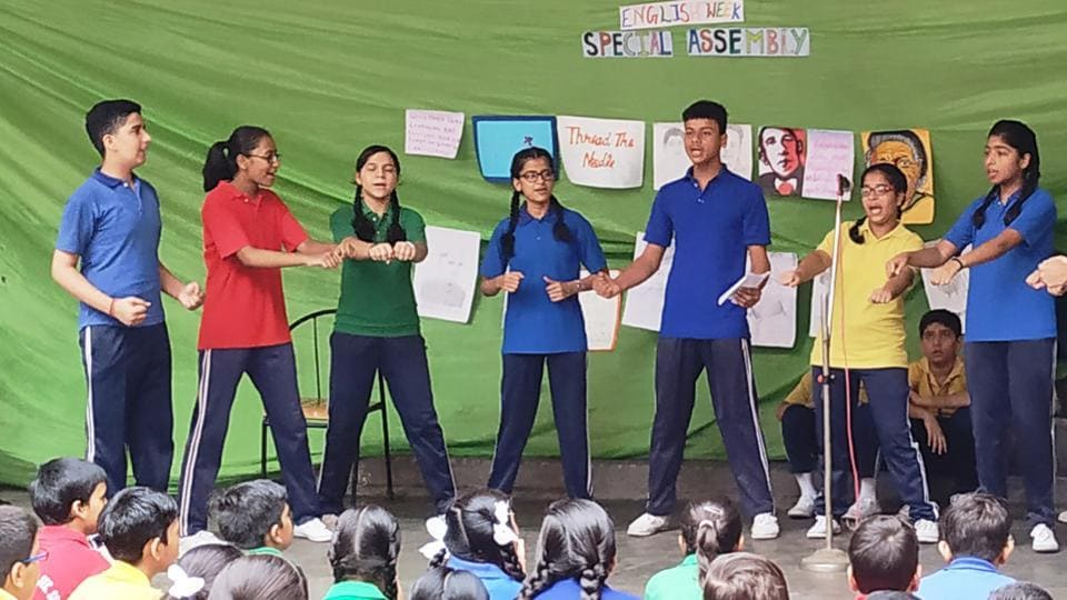 The school organised several fun-filled activities to teach English