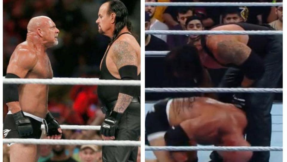 Goldberg and The Undertaker.