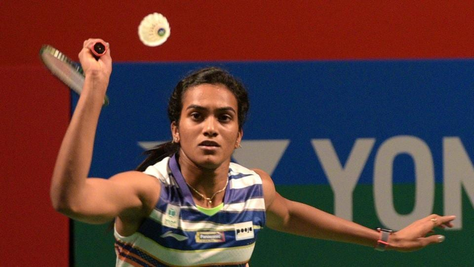 PV Sindhu in action at India Open 2019.