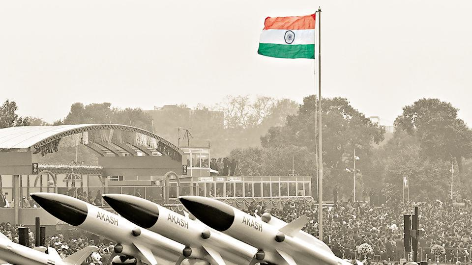 Nuclear-capable Akash at the Republic Day parade, New Delhi, January 26, 2017