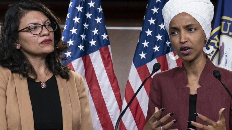 """Benjamin Netanyahu called the highly unusual move against Ilhan Omar and Rashida Tlaib necessary, charging that their """"sole purpose is to harm Israel and increase incitement against it""""."""