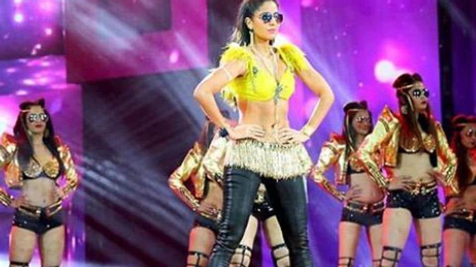 Katrina Kaif performs on stage at an IIFA function.